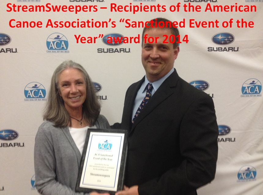 On-water Manager Beth Seale accepts American Canoe Association Award for StreamSweepers